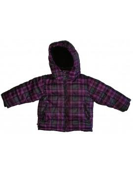 H&M lila-fekete kockás kabát, 92