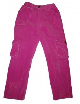 Rózsaszín kordnadrág, 128