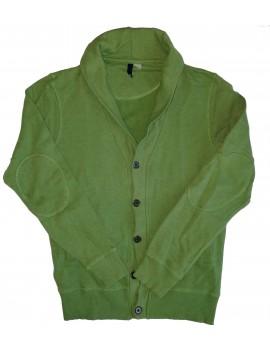 Zöld férfi pulcsi, kb M