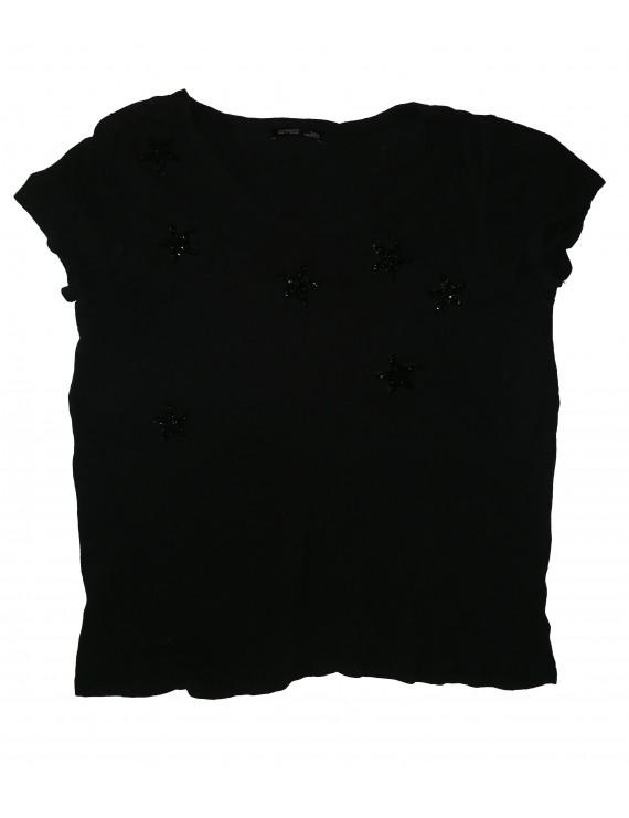 Fekete csillagos női póló